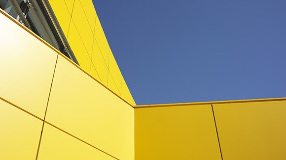 yellow building