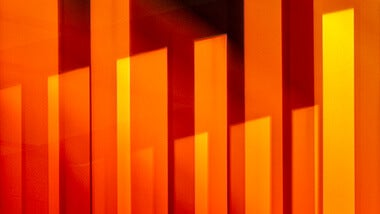 orange abstract wall