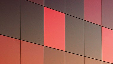 red abstract wall